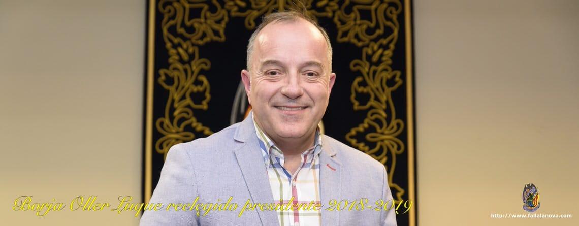 _Borja Oller Luque reelegido Presidente de la Nova d'Orriols para el ejercicio 2018-2019
