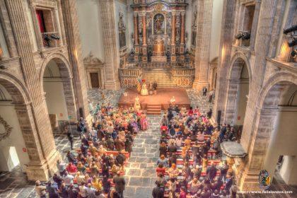 Acto de presentación de bocetos que la agrupación de Fallas Sector Rascanya celebra en el Monasterio de San Miguel de los Reyes