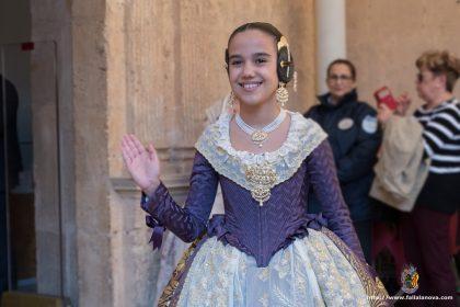 Sara Larrazábal Bernal en la presentación de Bocetos que la Agrupación Sector Rascanya celebró en el Monasterio de San Miguel de los Reyes